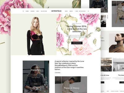 Introfolk ux ui magazine creative blog minimal ecommerce shop