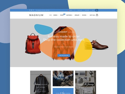 Magnium  creative magento shop ecommerce minimal design web