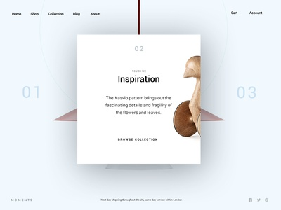 Moments agency ecommerce shop portfolio creative minimal ux ui onepage web design web