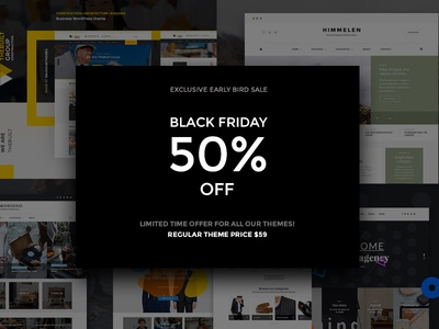 Blackfriday Sale wordpress minimal blog magazine hero blogger food slider themeforescreative blackfriday sale web