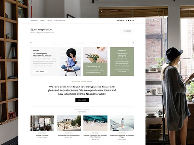 Bjorn Minimal wordpress blog magazine creative clean minimal photography blogger