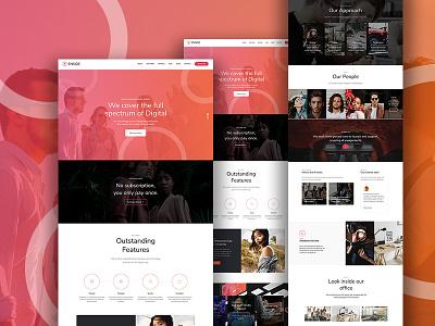 Enside Main Demo portfolio personal corporate creative consulting crypto business theme wordpress onepage themeforest