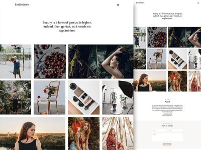 Enside Photography personal business photography minimal wordpress ux ui corporate elite themeforest design web