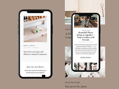 Magazine UI personal business themeforest minimal wordpress ux ui corporate iphonex homepage design web