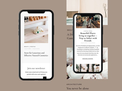 Magazine UI personal business themeforest minimal wordpress ux ui corporate iphonex homepage design web
