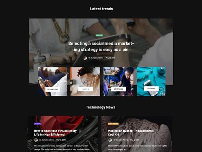 News Layout themeforest wordpress landing blog promo magazine corporate business minimal ux ui web