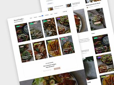 Saxon Foodies foodie foodblog food promo themeforest wordpress blog magazine landing corporate business ux ui web