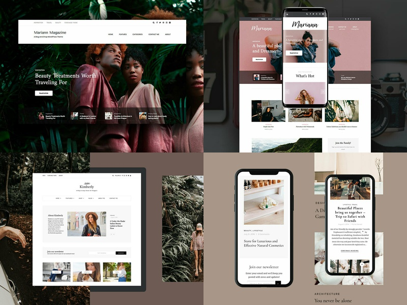 2018 2018 blog theme magazine themeforest wordpress corporate business webdesign minimal ux ui web