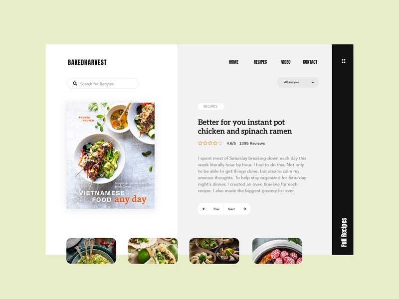 Recipes recipes food themeforest blog magazine wordpress corporate business webdesign minimal ux ui web