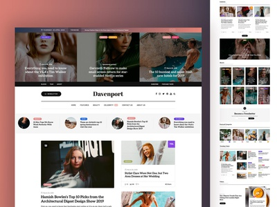 Davenport theme magazine themeforest blog wordpress corporate business webdesign minimal ux ui web