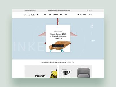 Tinker uidesign interaction animation design shop woocommerce theme woocommerce theme template themeforest landing wordpress corporate business webdesign minimal ux ui web