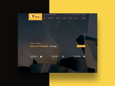 TheBuilt Modern theme themes template architecture construction interaction animation creative slider themeforest wordpress promo corporate business webdesign minimal ux ui web