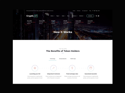 CryptiBIT Inner Page charts bitcoin crypto wallet cryptocurrency crypto interaction animation blog themeforest magazine landing wordpress corporate business webdesign minimal ux ui web