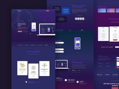 CryptiBIT theme template onepage bitcoin crypto gradients themeforest landing wordpress corporate business webdesign minimal ux ui web