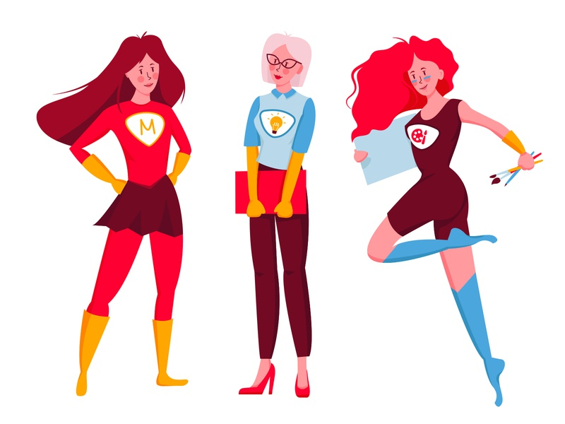 Super Woman vector supermom mum womans power illustration