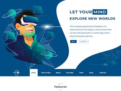Razex VR UI Template virtualreality website design ui