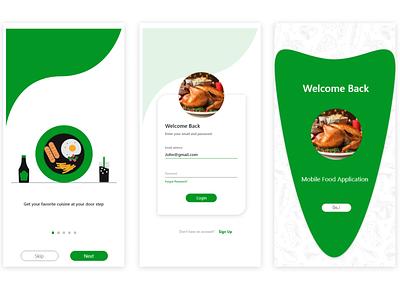 Food Delivery Mobile App app ux design ui