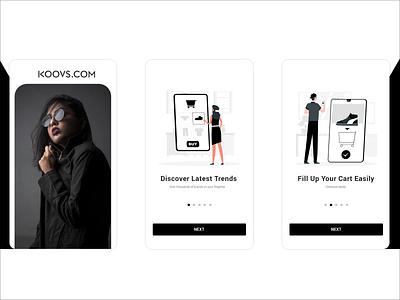 Redesign of E-commerce App typography illustration app ux ui