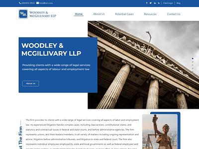 Web Layout for Legal Advisory Firm website design ux web design ui