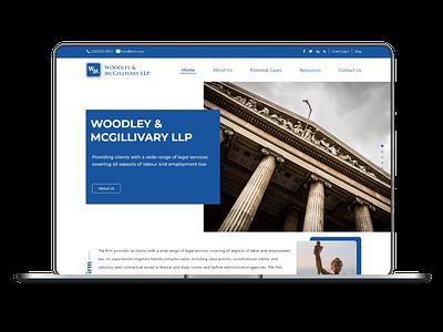 Web Mock up  for Legal Advisory Firm mockup website design ux ui