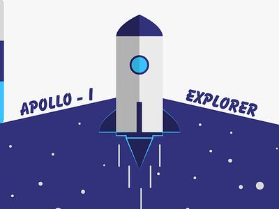 Space Shuttle Illustration creative vector ui illustration