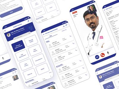 Healthcare UX UI graphic design app ux ui