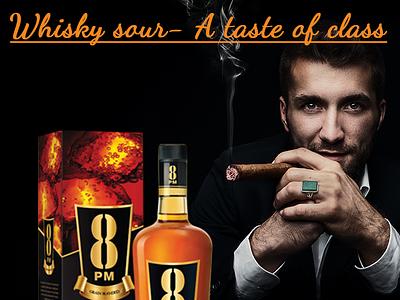 Social Media Post for 8 Pm Whisky graphic design social media creative