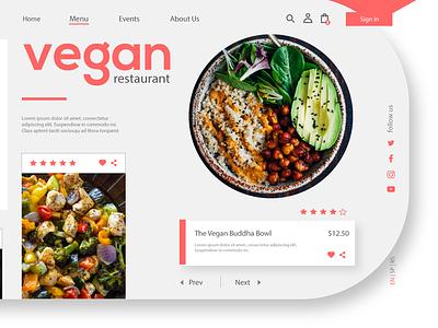 Vegan Ui weblayout creative ux illustration typography ui graphic design