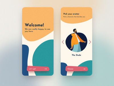 Mobile App - Onboarding welcome splashscreen onboarding mobile product design designs app design ui
