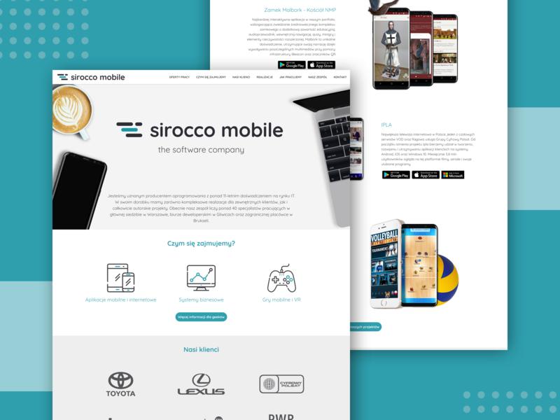 Sirocco Mobile Website software house web design website designs ux design ui