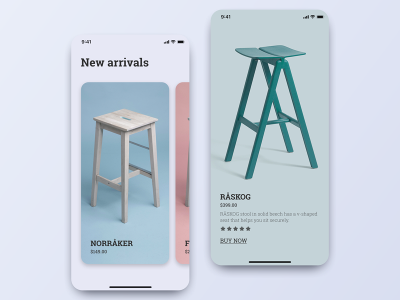 Furniture e-commerce ecommerce product design ux designs design app ui