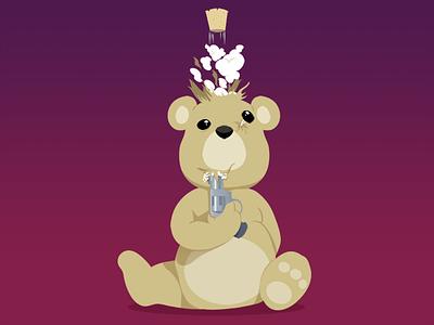 Pop! illustration tshirt vector photoshop illustrator toy teddy bear