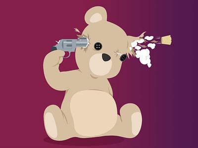 Headshot illustration tshirt vector photoshop illustrator toy tees teddy bear
