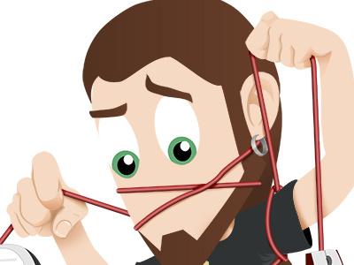 A mess vector illustration web photoshop cartoon illustrator