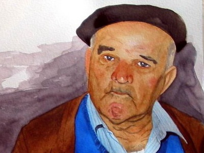 Consuelo Y Juanito watercolor portrait comission