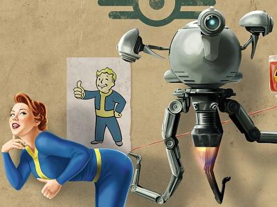 Fallout radiation check 1 fanart illustration photoshop fallout