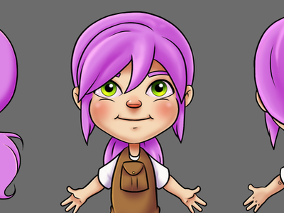 Character Sheet Susie Hair character design design clip studio paint brush cartoon illustration photoshop