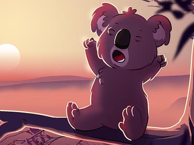 Koala Starting twitch stream clip studio paint branding cartoon illustration photoshop