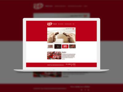 ThirtyUI - Day 1 - KitKat web ux ui graphic design thirtyui
