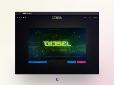 di3sel.com streamer mixer website design
