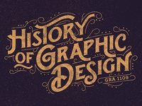History of Graphic Design type texture retro vintage graphic design history typography teaching