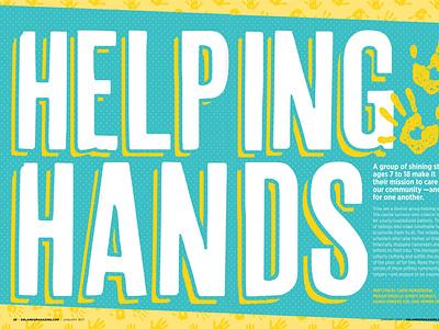 Helping Hands design publication orlando magazine editorial orlando layout magazine typography