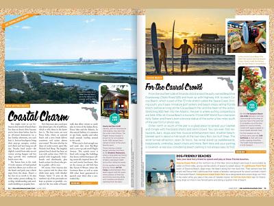 Endless Summer travel getaway vacation summer beach design publication orlando magazine editorial orlando layout magazine typography