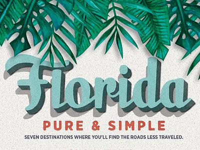 Florida Travel opening spread orlando layout publication editorial magazine texture tropical vintage travel florida
