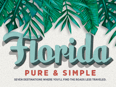 Florida Travel opening spread orlando layout publication editorial magazine texture tropical vintage travel florida