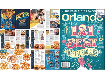 2016 Communicator Awards communicator awards illustration restaurants dining burger indesign layout design feature 2016 winner award