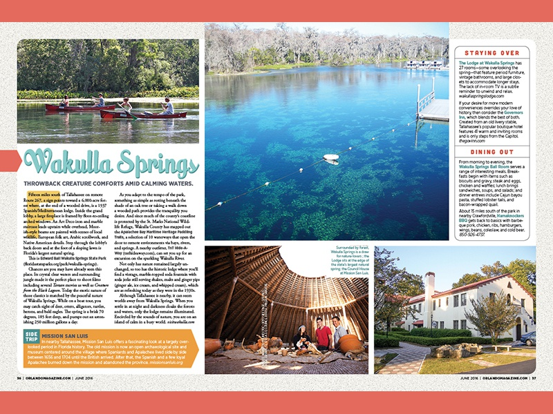 Orlando Magazine June Travel Feature orlando magazine design editorial publication layout grid vacation adventure traveling feature travel magazine