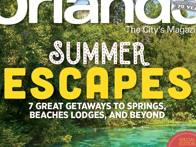 Summer Escapes Cover editorial publication indesign layout springs travel summer cover magazine orlando
