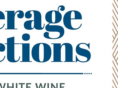 Beverage Selections blue font typeface typography serif magazine orlando sign