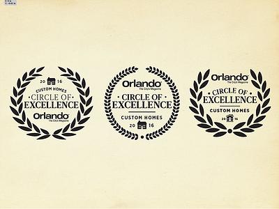 Circle of Excellence Badge wreath circle real estate home magazine orlando badge logo